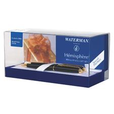 Picture of Waterman Hemisphere Black Lacquer Ballpen and Pencil Set