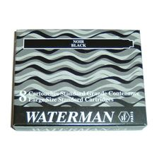 Picture of Waterman Fountain Pen Cartridges Black (8 Per Box)