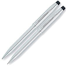 Picture of Cross Century II Lustrous Chrome Ballpoint Pen and 0.7mm Pencil Set