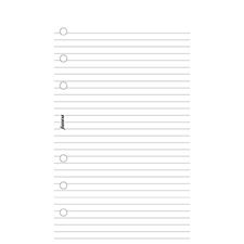 Picture of Filofax Personal Ruled Notepad White