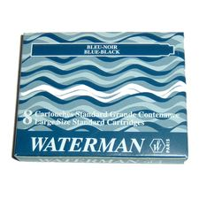 Picture of Waterman Fountain Pen Cartridges Blue-Black (8 Per Box)