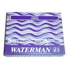 Picture of Waterman Fountain Pen Cartridges Purple (8 Per Box)