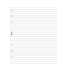 Picture of Filofax A5 Ruled Notepad White
