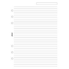 Picture of Filofax A5 Ruled Notepaper White