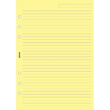 Picture of Filofax A5 Ruled Notepaper Yellow