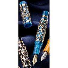 Picture of Delta 25th Anniversary Limited Edition Celebration Blue Fountain Pen Fine Nib