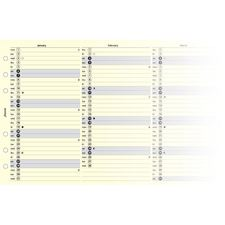 Picture of Filofax Personal 2014 Year Planner Vertical Cotton Cream