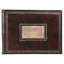 Picture of Eccolo Firenze Guest Book Brown