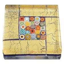 Picture of Eccolo Murano Glass Paperweight Millefiori Square