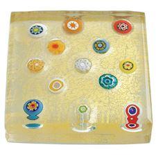 Picture of Eccolo Murano Glass Paperweight Spread Millefiori