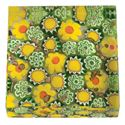 Picture of Eccolo Murano Glass Paperweight Field of Flowers Yellow