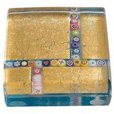 Picture of Eccolo Murano Glass Paperweight Millefiori Maze
