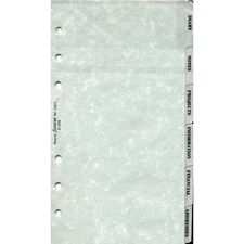 Picture of Filofax Personal Subject Index Tabs, 6 Tabs - Grey