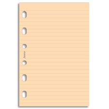 Picture of Filofax Pocket Ruled Notepaper - Salmon