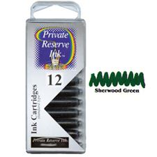 Picture of Private Reserve Ink Cartridge Sherwood Green 12 Pack