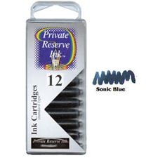 Picture of Private Reserve Ink Cartridge Sonic Blue 12 Pack