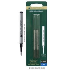 Picture of Monteverde Mini Rollerball Refill to Fit Mini Jewelria Pens Fine Black Pack of 6