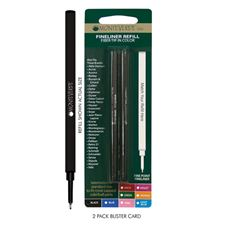 Picture of Monteverde Fineliner Refill to Fit Most Capped RollerBall Pens Fine Pink Pack of 6