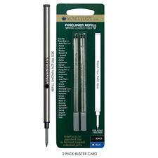 Picture of Monteverde Spring Loaded Tip Fineliner Refill For Most Capped Roller Pens Fine Black 6 Pack
