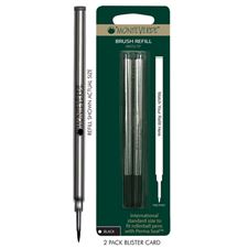 Picture of Monteverde Brush Refill For Capped Roller Pens Perma Seal Cap Fine Black Pack of 6