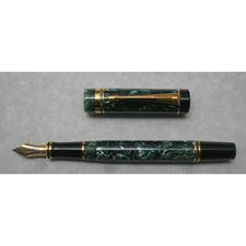 Picture of Parker Duofold International Marbled Green Fountain Pen Medium Nib