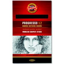 Picture of Koh-I-Noor Woodless Graphite Pencil 12 Pack 4B
