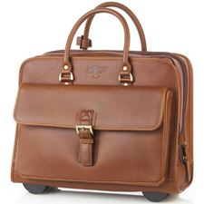 Picture of Aston Leather Wheeled Briefcase for Men