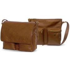 Picture of Aston Leather Large Tan Shoulder Bag