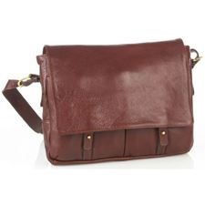 Picture of Aston Leather Brown Medium Messenger Bag