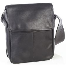 Picture of Aston Leather Small Black Convertible Shoulder Bag