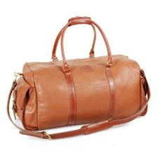 Picture of Aston Leather Dufflebag with Side Pockets