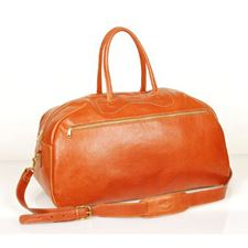 Picture of Aston Leather Top Zip Dufflebag