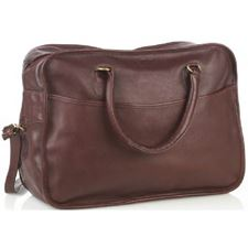 Picture of Aston Leather Overnight Carry-On Bag Brown