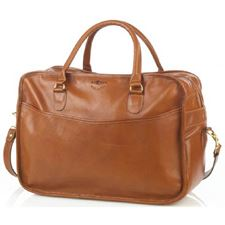 Picture of Aston Leather Overnight Carry-On Bag Tan