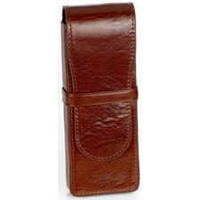 Picture of Aston Leather 3 Pen Box Brown