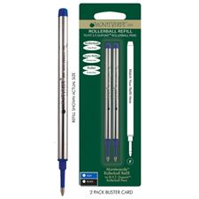 Picture of Monteverde Rollerball Refill to Fit S.T. Dupont Pens Fine Blue Pack of 6