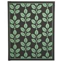 Picture of Eccolo Writing Green Botanica Journal Black (Pack of 4)