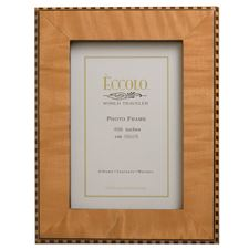 Picture of Eccolo Burl Frame Tan Inlay 4 X 6 (Pack of 4)