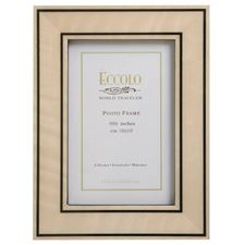 Picture of Eccolo Burl Frame Double Line Inlay Ivory 4 X 6 (Pack of 4)