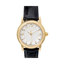 Picture of Cross Mens Gold Plated Black Leather Strap