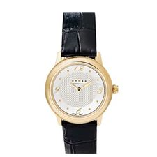 Picture of Cross Ladies Gold Plated Black Leather Strap