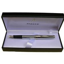 Picture of Parker Sonnet Cannelle Lacquer Chrome Fountain Pen Medium Nib