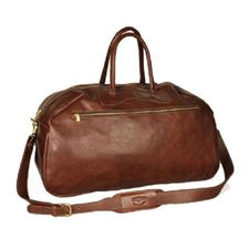 Picture of Aston Leather Ballistic Gym Brown Bag