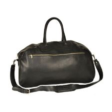 Picture of Aston Leather Ballistic Gym Black Bag