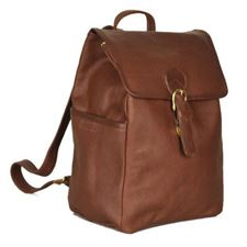 Picture of Aston Leather Large Drawstring Brown Backpack