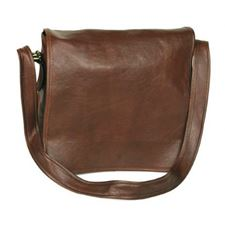 Picture of Aston Leather Brown Large Messenger Bag