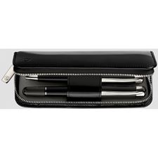 Picture of Pelikan Patent Leather Pen Case Two Pen Black