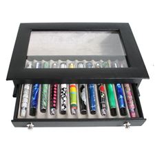 Picture of Royce Black Genuine Leather 12 Pen Display Case