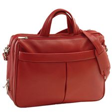 Picture of Royce Red Boston Leather LapTop Briefcase