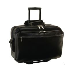 Picture of Royce Black Deluxe Computer Bag Leather  Briefcase